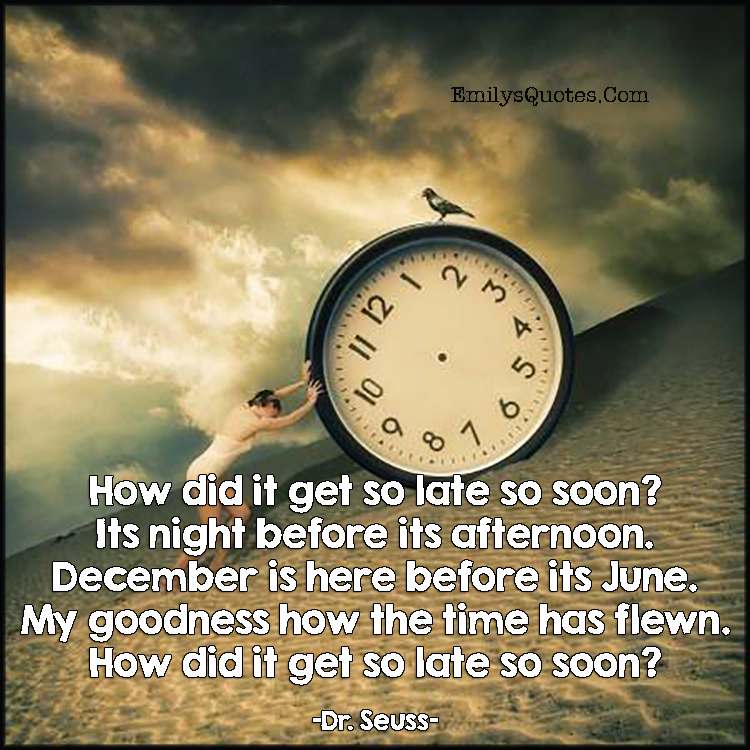 How Did It Get So Late So Soon Chapel Of Hope Stories