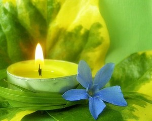 candle-and-flower