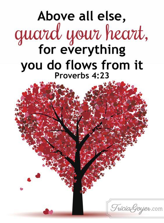 Valentine tree of heart shape, love