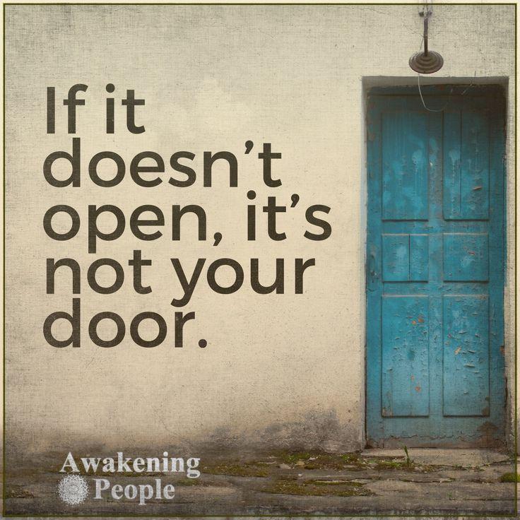 If it doesn t open it s not your door chapel of hope for Door quotation